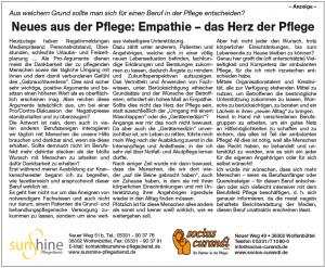 Anzeige im Wolfenbütteler Schaufenster vom 12.08.2018