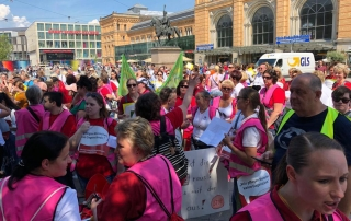 Aktionstag in Hannover 2019 Demo Pflege muss besser bezahlt werden
